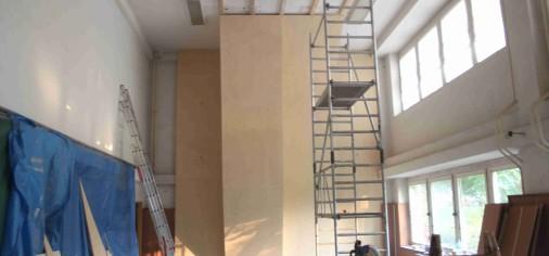 Nová část stěny