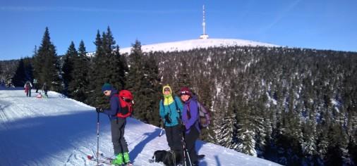 První skialp výlet této zimy